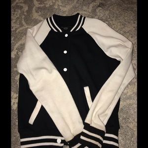 Varsity Black and White Sweater